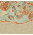 Vintage Rose Background Card vector image vector image