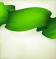 waving green ribbon banner drawing vector image vector image