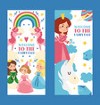 welcome to fairytale set banners vector image