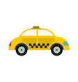 Yellow taxi icon vector image vector image