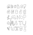 black and white letters sequence from a to z vector image