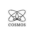simple black icon of atom cosmos logo vector image