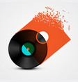 vinyl record lp with transparent cover made from vector image