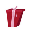 isolated wrapped present vector image