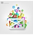 Message icon Application buttonSocial media vector image