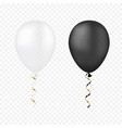 white and black balloons on a transparent vector image