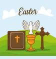easter celebration design vector image