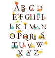 alphabet chart vector image vector image
