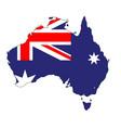 australia flag map vector image vector image