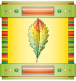 Autumn colorful leaf vector image vector image