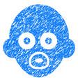 baby head grunge icon vector image vector image