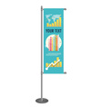 blank banner flag for designers vector image vector image