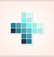 blue monochromatic color plus design vector image