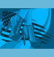 boots in woman legs with american flag vector image vector image