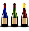bottle of wine vector image vector image