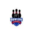 bowling logo vector image