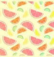 bright citrus seamless pattern set flying slices vector image
