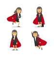 Businesswoman superhero vector image vector image