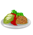 cabbage roll vector image vector image