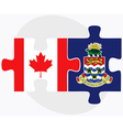 Canada and Cayman Islands vector image