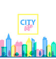city landscape template flat style vector image vector image