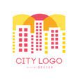 city logo original design modern real estate vector image vector image