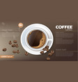 coffee cup banner realistic product vector image