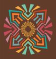 Color arrow mandala