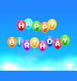 congratulations happy birthday heavens balls vector image vector image