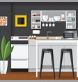 cool modern kitchens vector image vector image