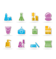 cosmetic industry and beauty icons vector image vector image