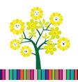 cute cartoon flower tree vector image vector image