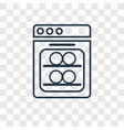 dishwasher concept linear icon isolated on vector image