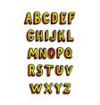 Doodle brick font alphabet vector image vector image