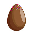 egg painted happy easter icon vector image