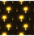 Electric bulbs in the dark seamless pattern vector image vector image