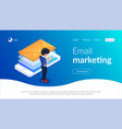 email marketing isometric concept receiving or vector image vector image