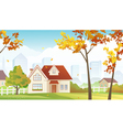 Fall suburb vector image vector image