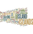fiji islands text background word cloud concept vector image vector image
