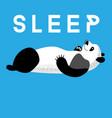 Fun card with a panda sleeping