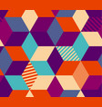 geometry color hexagon seamless pattern vector image