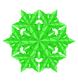 green paper snowflake vector image vector image