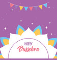 happy dussehra festival india mandala flower vector image vector image