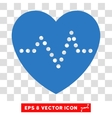 Heart Pulse Eps Icon vector image vector image