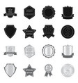 isolated object of emblem and badge logo vector image vector image