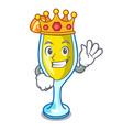king mimosa mascot cartoon style vector image vector image