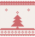 Knitted background with Christmas tree vector image vector image