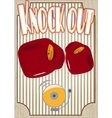 Knock out boxing poster vector image vector image