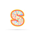 letter s in circle abstract logo design vector image vector image