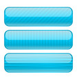 light blue oval buttons blank icons with stripe vector image